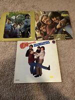 LOT OF 3 VINTAGE THE MONKEES LP VINYL RECORDS MORE HEADQUARTERS JONES LTD TV
