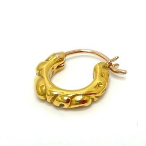 CHROME HEARTS 22K TNY HOOP SCRL Tiny scroll hoop Pierce 22K Yellow Gold