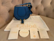 New Chloe Mini Marcie Leather Crossbody Shoulder Bag Royal Smoky Blue NWT!! $890