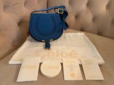 New Chloe Mini Marcie Leather Crossbody Shoulder bag Royal Smoky Blue NWT!! $890