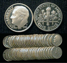 Roll of 50 1992-S Proof Roosevelt 90% Silver Dimes