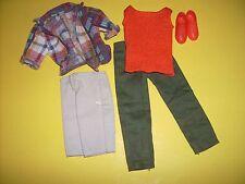 Ken Brad 1980's & up mod outfit clothes clone Plaid shirt pants Vtg Barbie