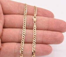 """24"""" Cuban Curb Link Chain Necklace Real Solid 14K Yellow Gold 3.6mm"""