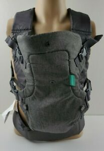 Infantino Flip 4-in-1 Convertible Baby Carrier Gray For Use on 8-32 lb Baby
