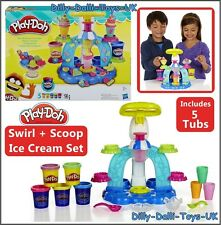 Play Doh SWIRL & SCOOP ICE CREAM Play Set Sweet Shoppe Shop Parlour Playdoh NEW
