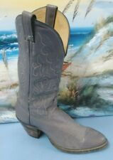 Womens JUSTIN Western Cowboy Gray Riding Leather BOOT SIZE 7.5 D   7521
