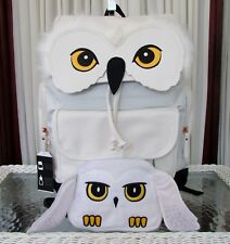 Harry Potter Hedwig Owl Backpack School Travel Laptop Bag Makeup Case Pouch NWT