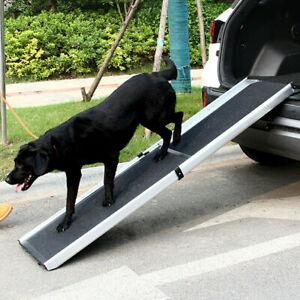 Heavy Duty Dog Ramp Adjustable Travel Pet Friendly Non-Slip Telescoping SUV Car