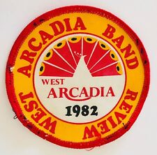 West Arcadia Band Review 1982 Patch Badge Rare Vintage (P12)