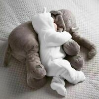 60CM Cuddly Toy Elephant Cushion Stuffed Animal Toy for Baby Plush Lumbar Pillow