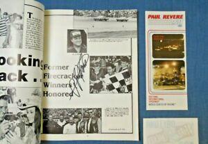 Signed 1982 NASCAR Daytona A.J. Foyt Firecracker 400 Souvenir Program Map LOT