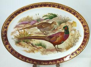 PHEASANT Bird Weatherby Hanley Royal Falcon Ware 30cmX24cm Serving Dish Plate