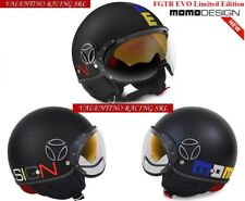 MOMO DESIGN FGTR EVO LIMITED EDITION CASCO JET BLACK MULTICOLOR FROST OPACO T L