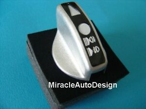 Metal Head Light Lamp Switch Cover For 1991-1998 Mercedes Benz W140 S-Class