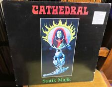 "CATHEDRAL statik majik 1994 EU EARACHE MINI VINYL LP/12"" w/INSERT BLACK SABBATH"