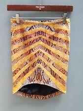 BARDOT Print Skirt Sz 8 XS Mini Work Casual Party High Low Hem Pencil Straight