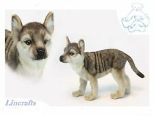 Wolf Cub Standing. Plush Soft Toy by Hansa sold by Lincrafts. 6719