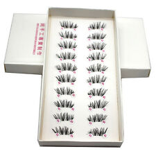 10 Pairs Handmade Cross False Eyelashes Half Mini Corner Winged Eye Lashes HOT