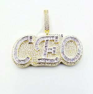 Gorgeous ICY Baguette AAA Designer Pendent Vs Crystal Handmade Premium Quality