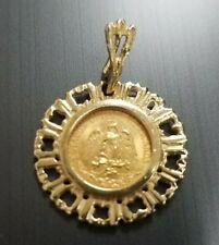 22kt 1945 Dos Pesos Mexico Gold Coin & Pendant & 14kt Gold Bezel Pendant I888