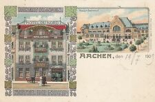 Lithographien vor 1914 aus Nordrhein-Westfalen mit dem Thema Eisenbahn & Bahnhof