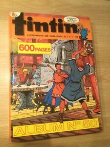 JOURNAL DE TINTIN ALBUM N°50, French Hardcover 600 Pages Album