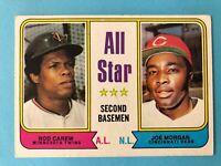 1974 TOPPS BASEBALL CARD 333 ALL STAR SECOND BASEMEN ROD CAREW & JOE MORGAN
