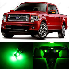 13 x Green LED Interior Light Package For 2004 - 2014 Ford F-150 F150 + PRY TOOL
