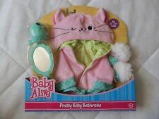 """Baby Alive Pretty Kitty Bathrobe Fits 12""""-14"""" Dolls NEW Robe, Slippers Mirror +"""