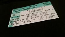 Soundgarden ticket stub 11/21/96 Electric Factory