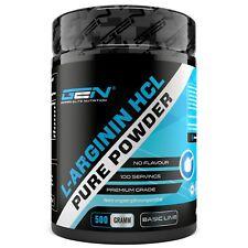 L- Arginin HCL - 500g 100% Reines Pulver - Muskelaufbau - Pump - Pre-workout