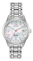 Citizen Eco-Drive Ladies World Time Silver-Tone Band 36mm Watch FC8000-55D