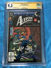Action Comics #654 - DC - CGC SS 9.2 - Signed by Stern, Breeding - Superman