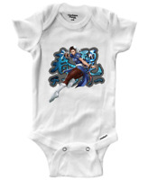 Infant Gerber Onesies Bodysuit One-Pieces Clothes Gift Chun Li Street Fighter