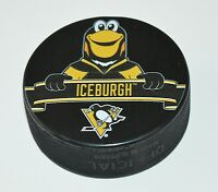 Pittsburgh Penguins Mascot Iceburgh Team Logo SOUVENIR NHL HOCKEY PUCK NEW