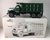 First Gear 1960 Model B-61 Green Mack Dump Truck D.P.W. No.19-2024 NOS