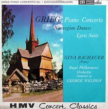 XLP 20025 Grieg Piano Concerto Gina Bachauer George Weldon 1960 HMV Mono NM/EX