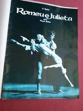 RARE 1967 MARGOT FONTEYN/RUDOLF NUREYEV ROMEU & JULIET PORTUGAL MOVIE PROGRAM