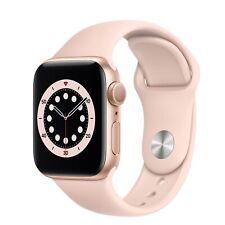 Apple Watch Series 6 40mm GPS Gold Aluminum Case Pink Sand Sport Band NEW UNLOCK