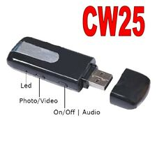 PENDRIVE SPIA U8 TELECAMERA USB SPY MICROCAMERA CIMICE VIDEOCAMERA FOTO CW25