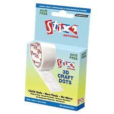 Stix2 3D PERMANENT Glue Dots on a Roll 100 x 10mm x 3mm