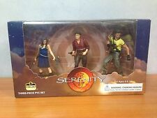 Rare Joss Wedon's Serenity 3 Piece Action Figure Set - River, Mal & Jayne - MIB