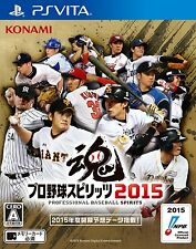 Pro Baseball Spirits Japan playstation vita PS Vita PSV Professional Yakyu  2015