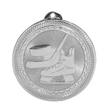 Silver Hockey Medal School Team Sports With Free Ribbon and Free Shipping #M12