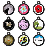 Cute Personalised Pet Dog Cat Name ID Tags For Collar Poppy Daisy- Engraved FREE