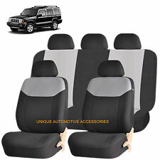 GRAY ELEGANT AIRBAG COMPATIBLE SEAT COVER for JEEP COMMANDER COMPASS