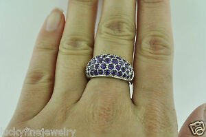 2.50 ct 14k Solid White Gold Ladies Amethyst Ring 5.00 Gram February Birthstone