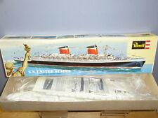 """Vintage REVELL plastique (défait) Kit Modèle H-332 """"SS UNITED STATES"""" VN En parfait état, dans sa boîte"""