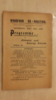 INTER SCHOOL ATHLETIC & BOXING PROGRAMME - WOODFORD OX- ROASTING - JULY 1932