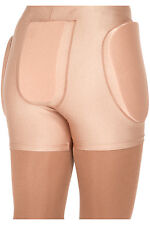 New Figure Skating Protective Shorts Foam Padded Avail Black & Skin Tone